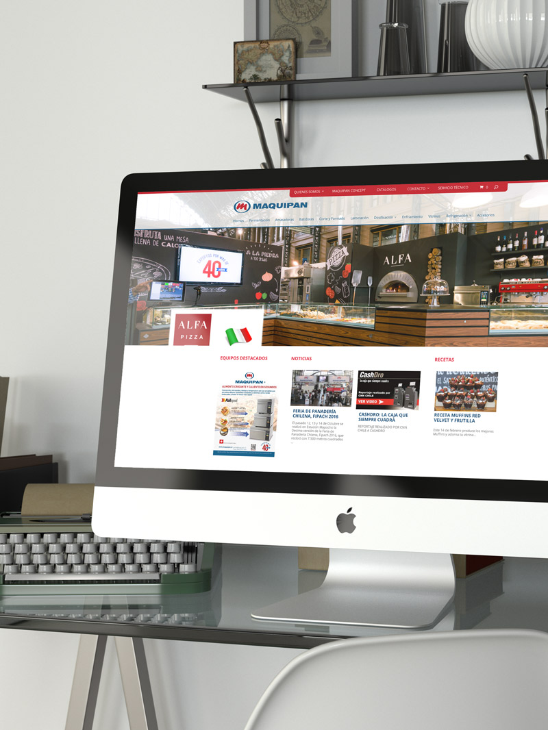Website Maquipan Chile
